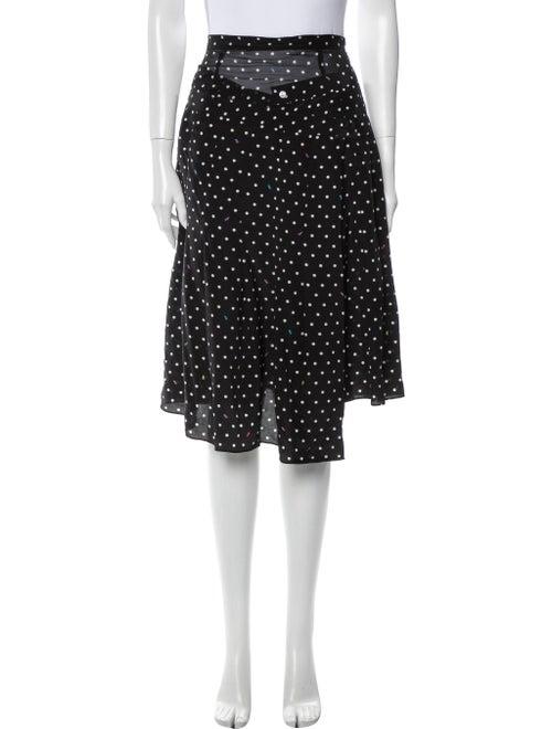 Sandy Liang Silk Knee-Length Skirt Black