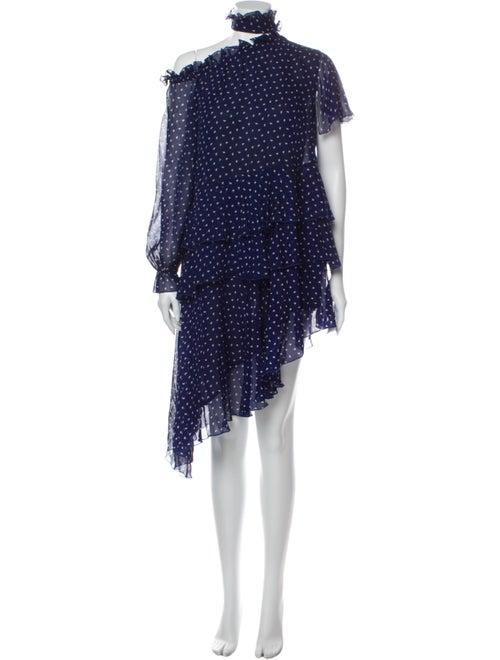 Sandy Liang Silk Knee-Length Dress Blue