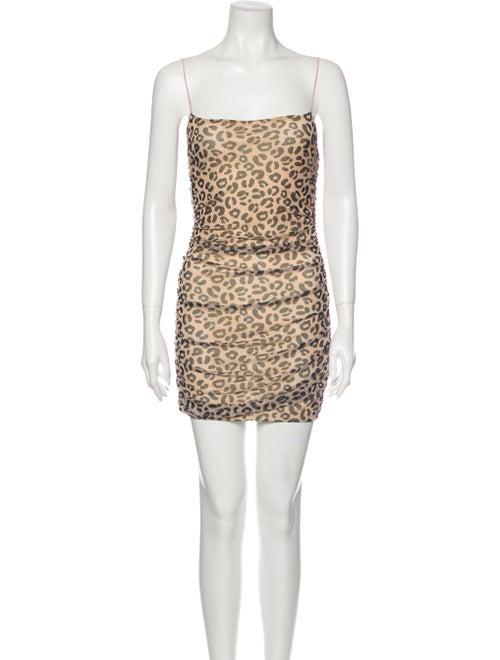 Sandy Liang Animal Print Mini Dress
