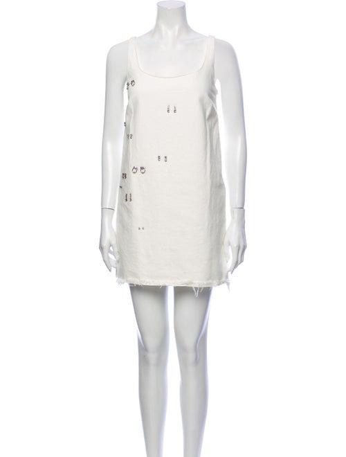 Sandy Liang Scoop Neck Mini Dress White