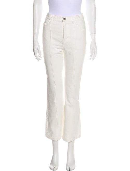 Sandy Liang High-Rise Wide Leg Jeans White