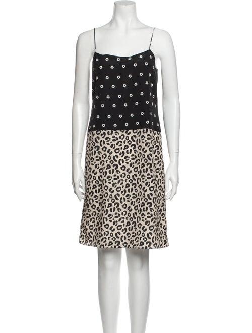 Sandy Liang Printed Mini Dress Black