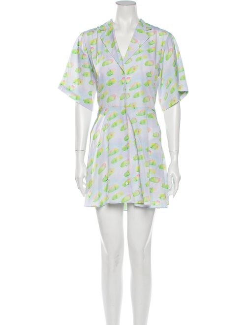 Sandy Liang Coco Mini Dress w/ Tags Blue