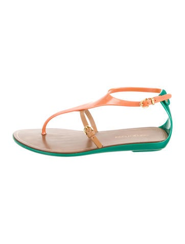 Rubber Colorblock Sandals