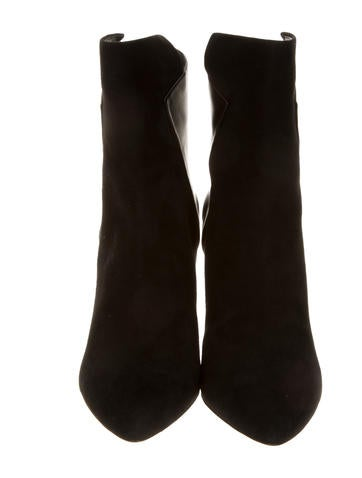 Suede & Leather Ankle Boots