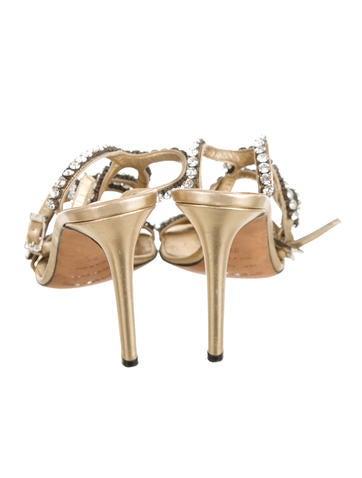 Crystal Embellished Multistrap Sandals