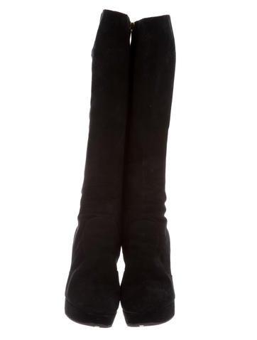 Platform Suede Boots