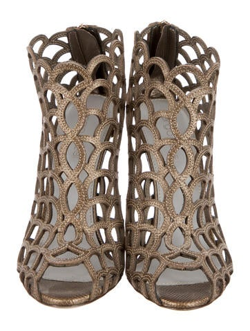 Leather Cage Booties