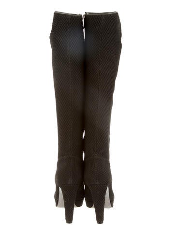 Embossed Knee-High Boots