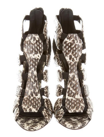 Snakeskin Caged Booties