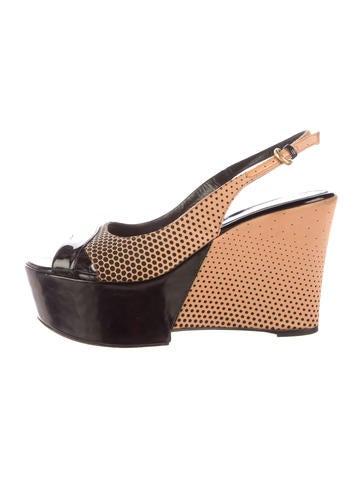 Sergio Rossi Platform Slingback Sandals None