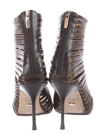 Cage Leather Booties