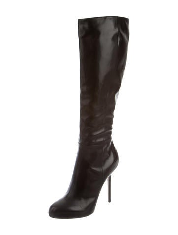 Leather Knee-High Boots