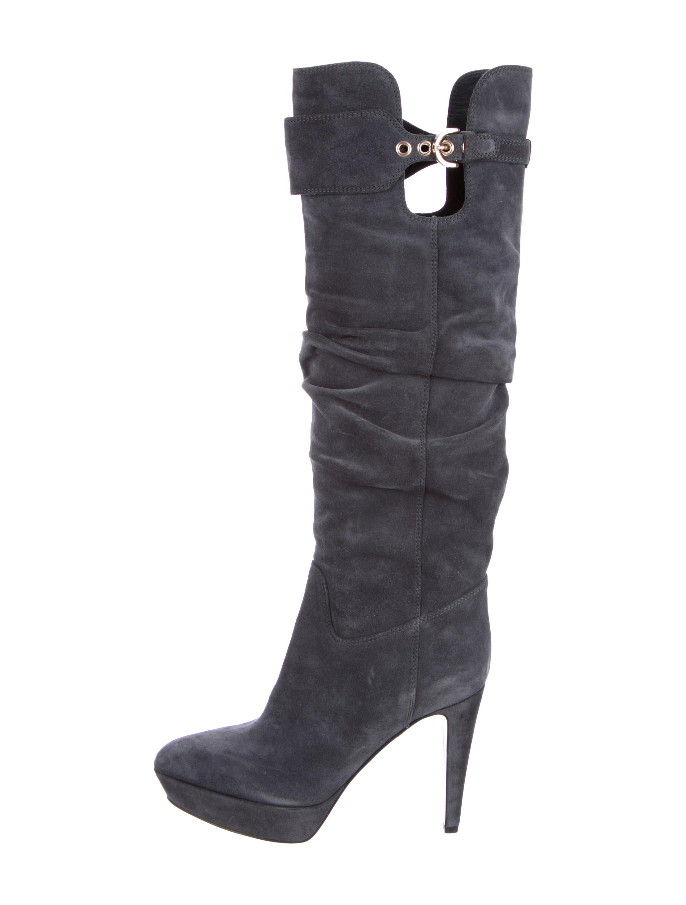 sergio knee high suede boots shoes ser25557