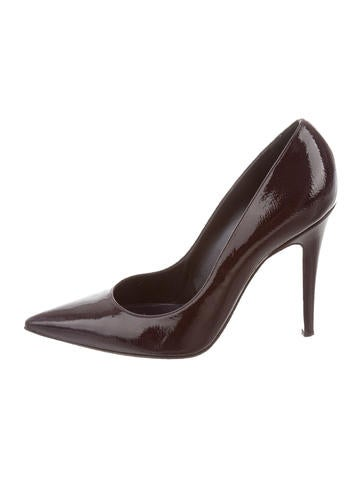 Sergio Rossi Pointed-Toe Patent Leather Pumps None