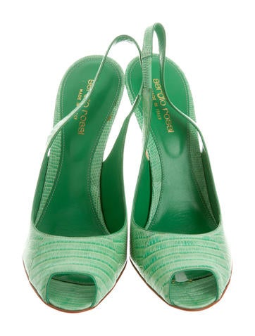 Slingback Lizard Pumps w/ Tags
