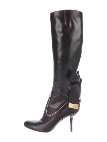 sergio knee high bow boots shoes ser26167 the