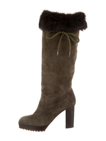 sergio suede fur trimmed boots shoes ser26347