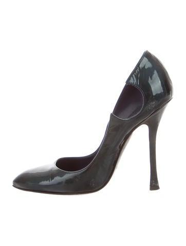 Sergio Rossi Patente Leather Pointed-Toe Pumps None