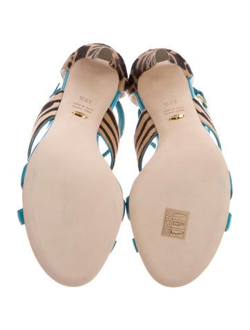 Ponyhair-Trimmed Donyale Sandals
