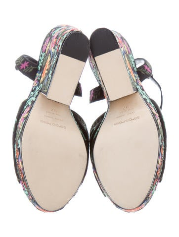 Floral Wedge Sandals w/ Tags