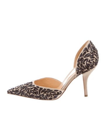 Sergio Rossi Sequined d'Orsay Pumps None