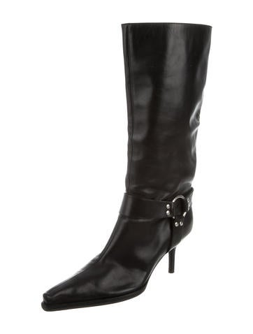 sergio pointed toe harness boots shoes ser27251
