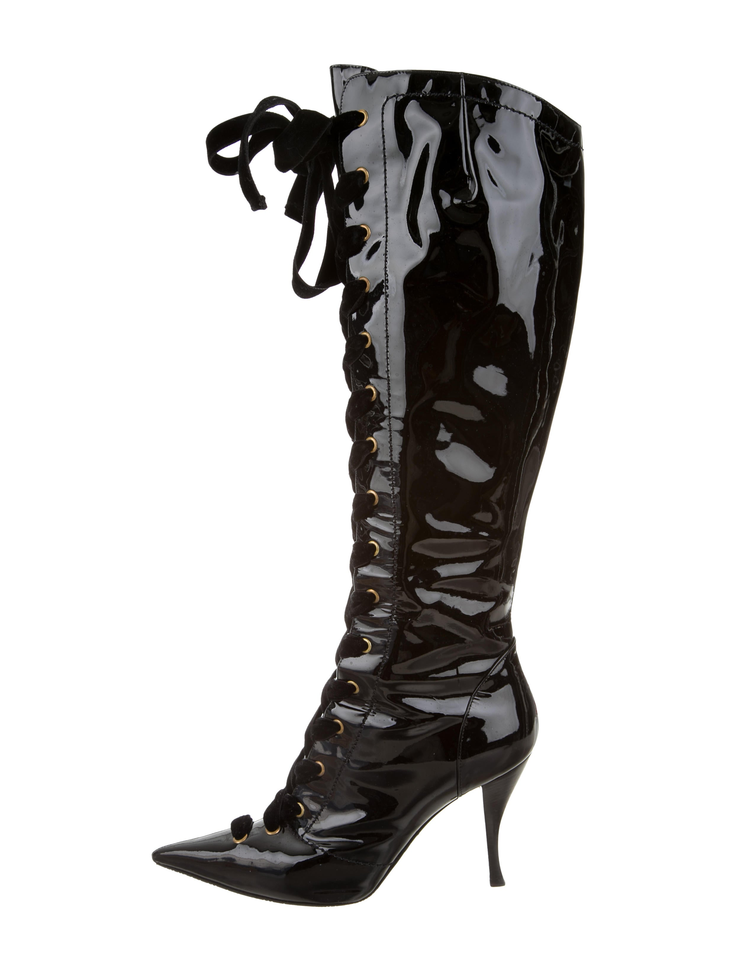 sergio lace up knee high boots shoes ser27300
