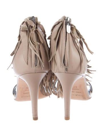 Leather Fringe Sandals