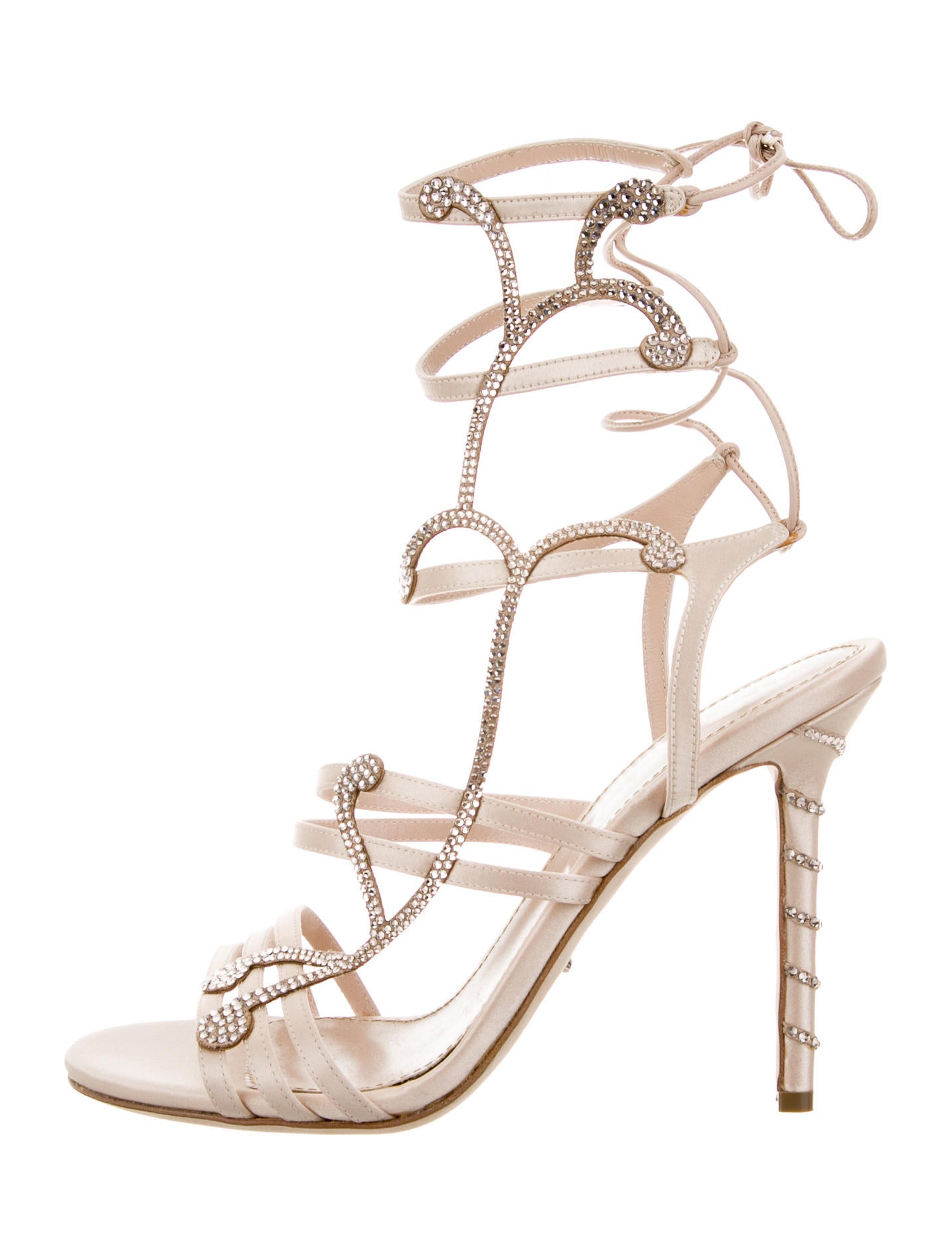 buy cheap amazing price Sergio Rossi Embellished Lace-Up Sandals clearance the cheapest V6lgobc