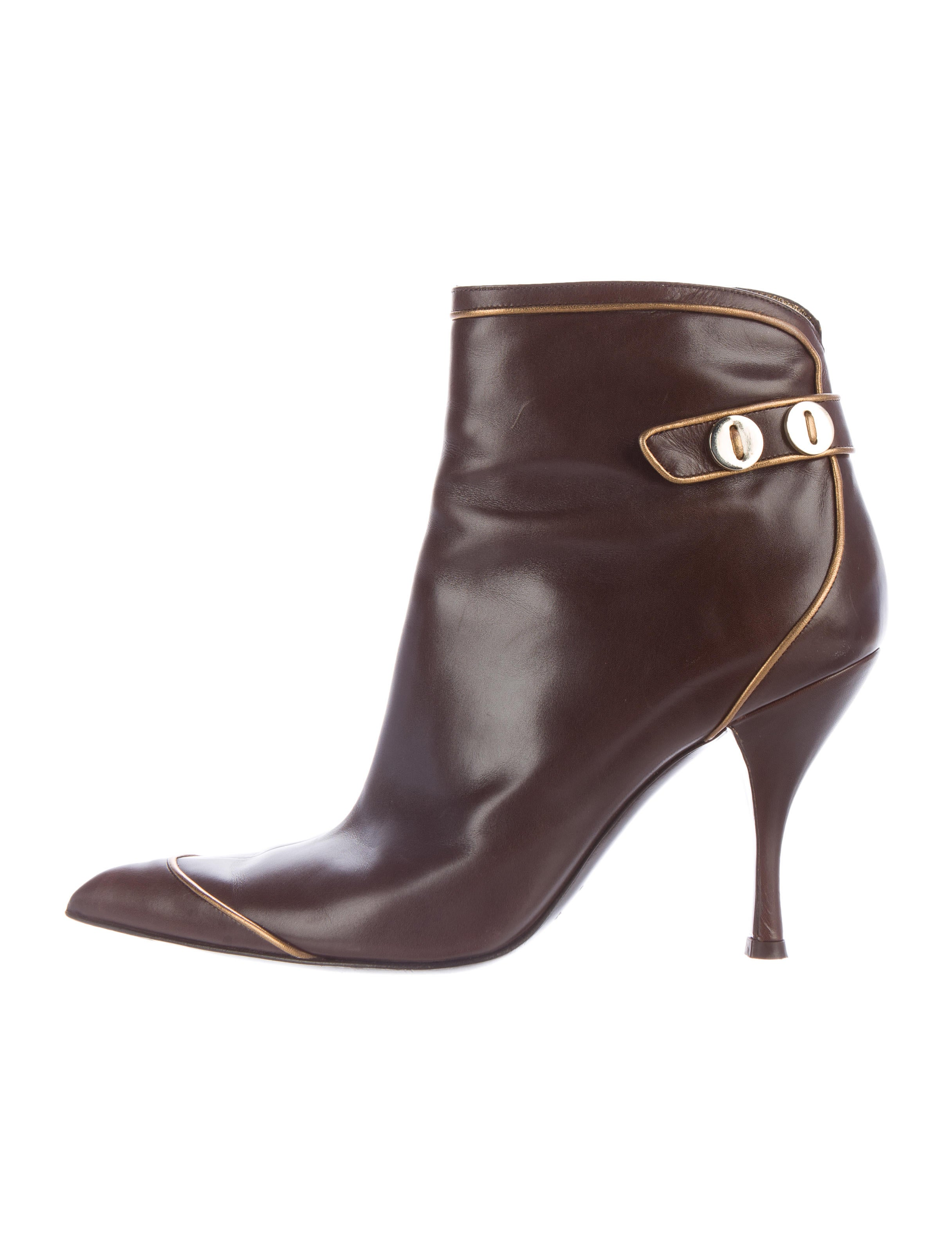 sergio leather pointed toe ankle boots shoes
