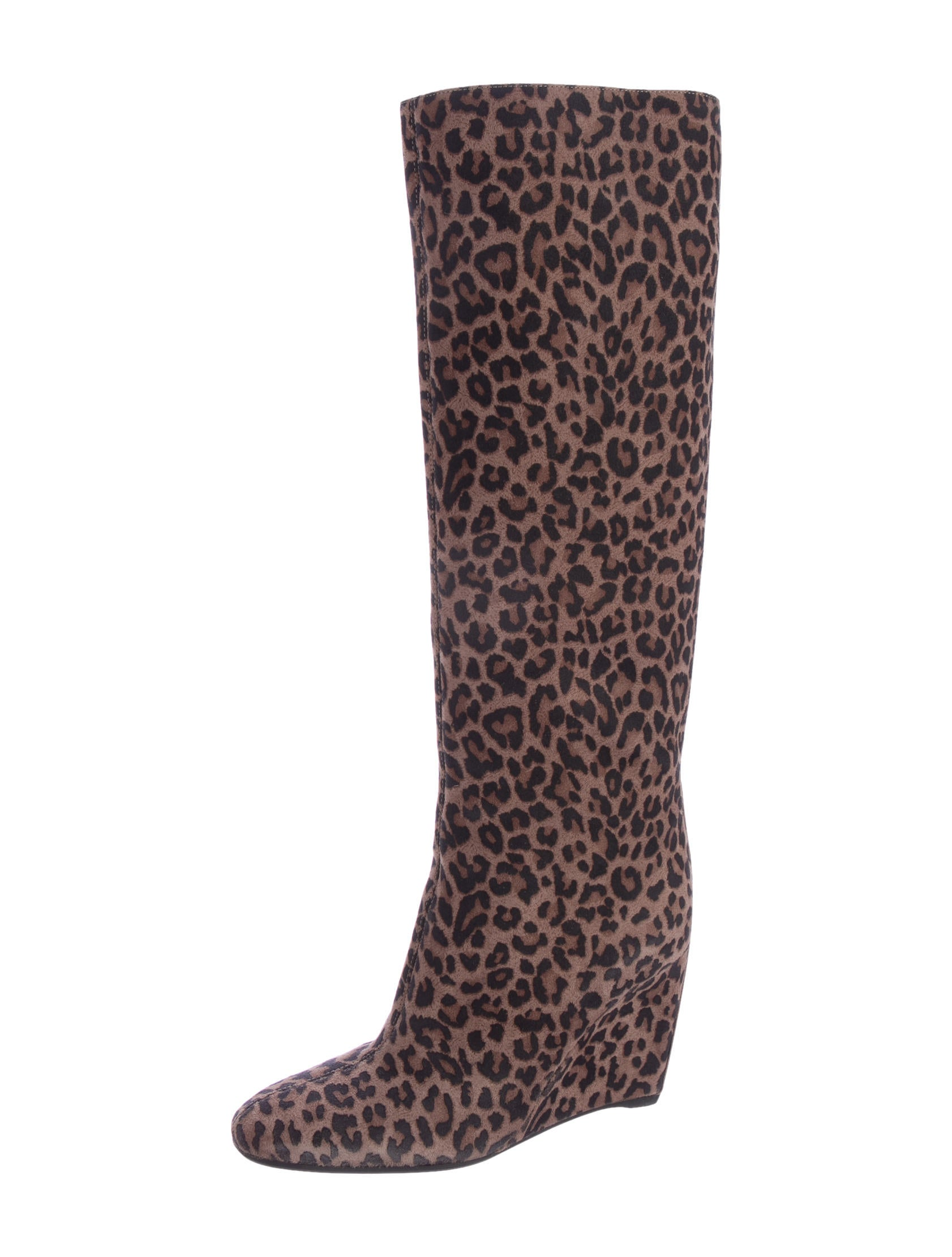 sergio leopard print knee high boots shoes