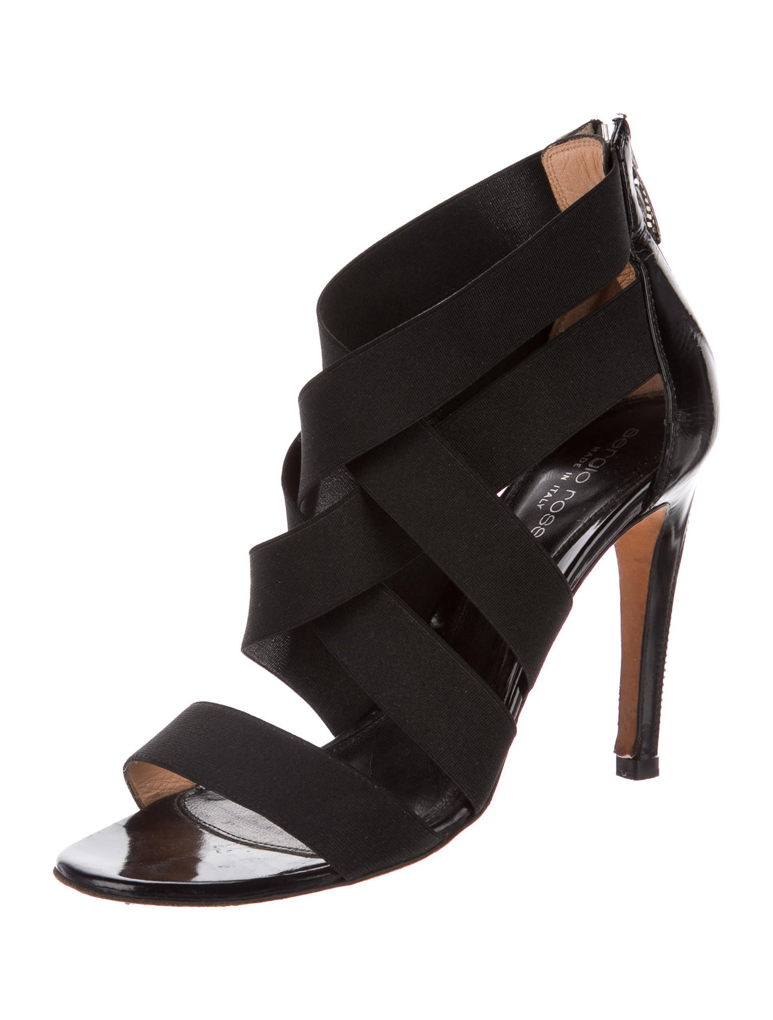 Sergio Rossi Zipper-Accented Crossover Pumps buy cheap under $60 explore for sale free shipping latest collections discount genuine wQvhC