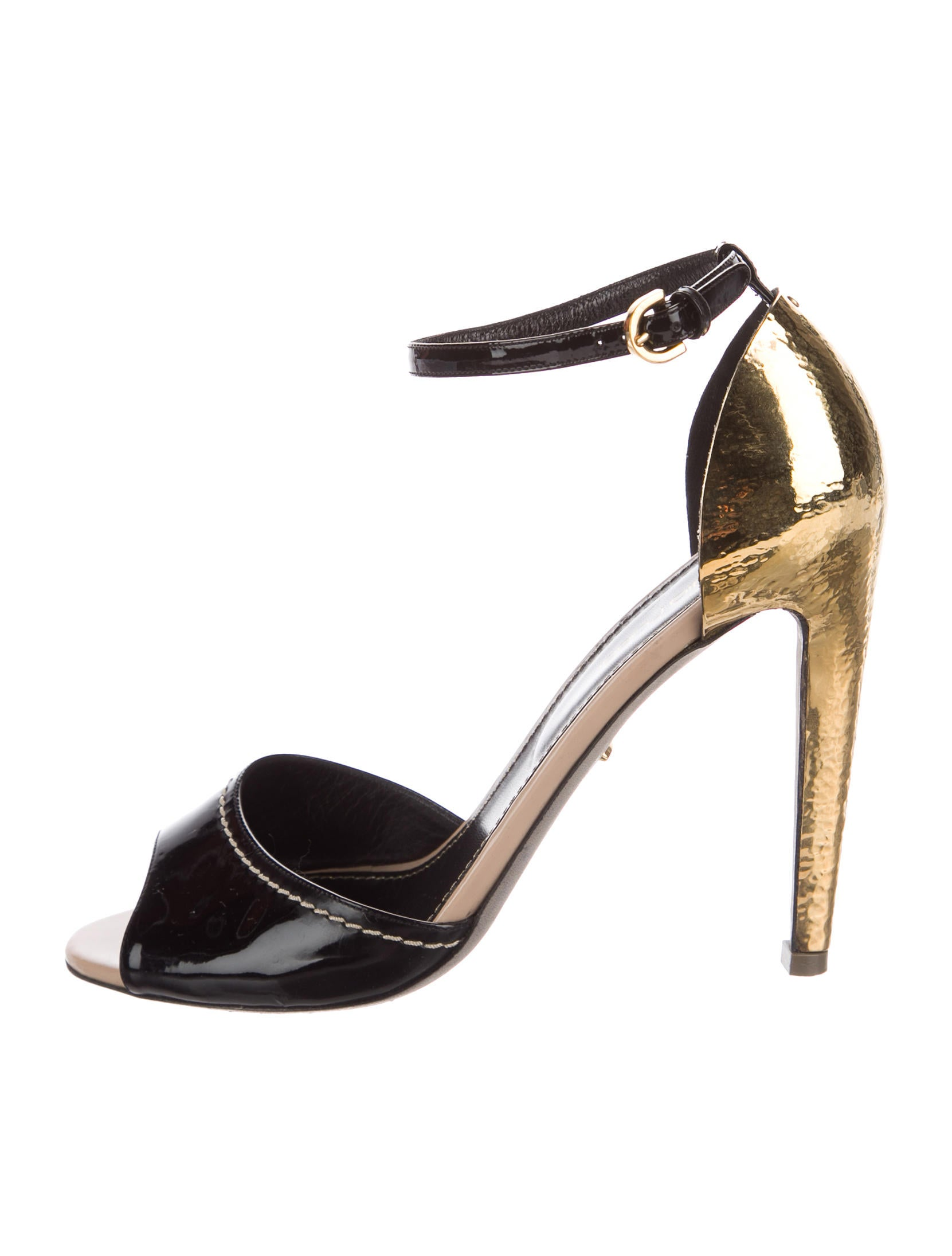 Sergio Rossi Leather Colorblock Sandals low price cheap online clearance comfortable best prices free shipping amazon clearance websites fkM06SM