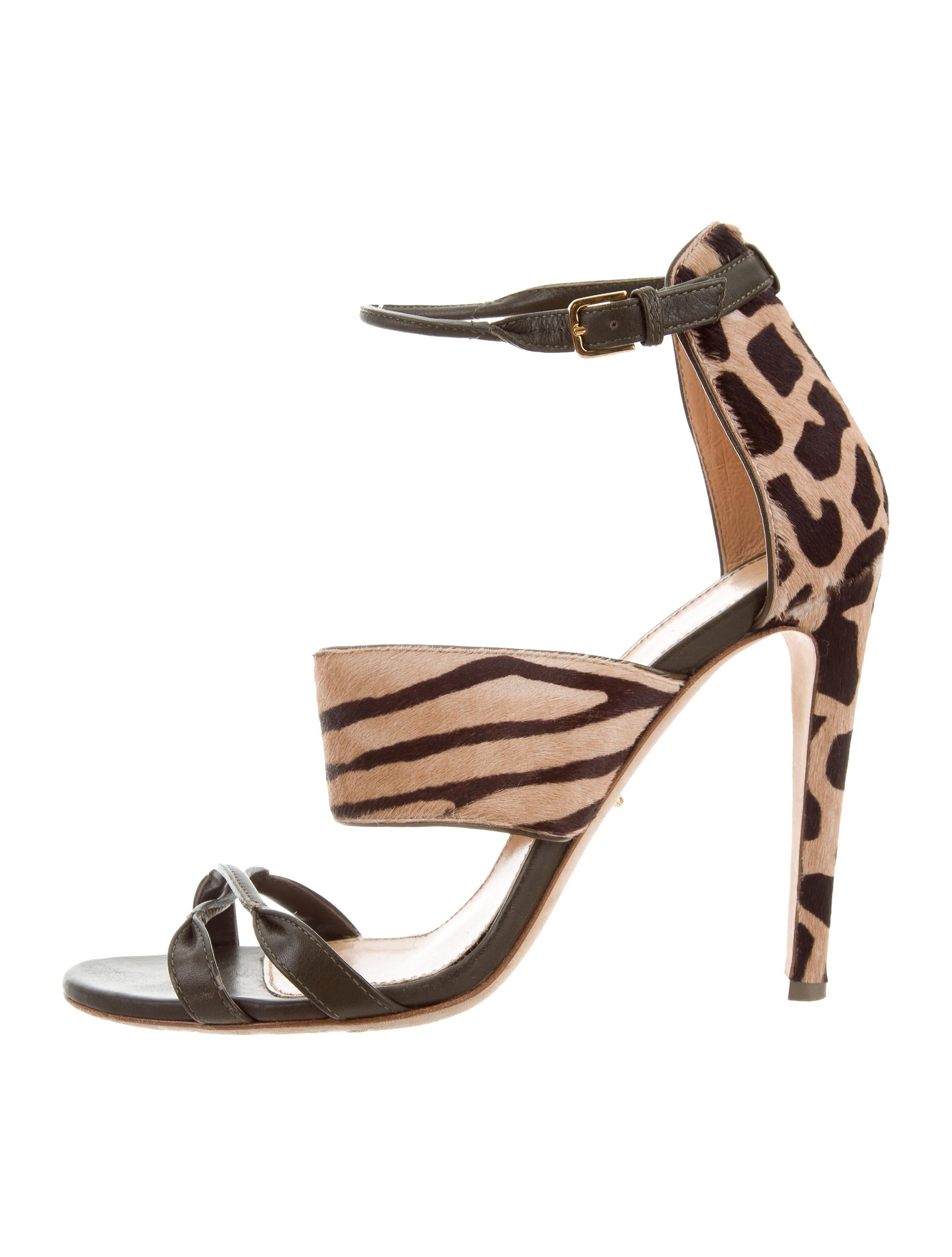 Sergio Rossi Ponyhair-Trimmed Platform Sandals buy cheap countdown package A3Z2TGNTr8