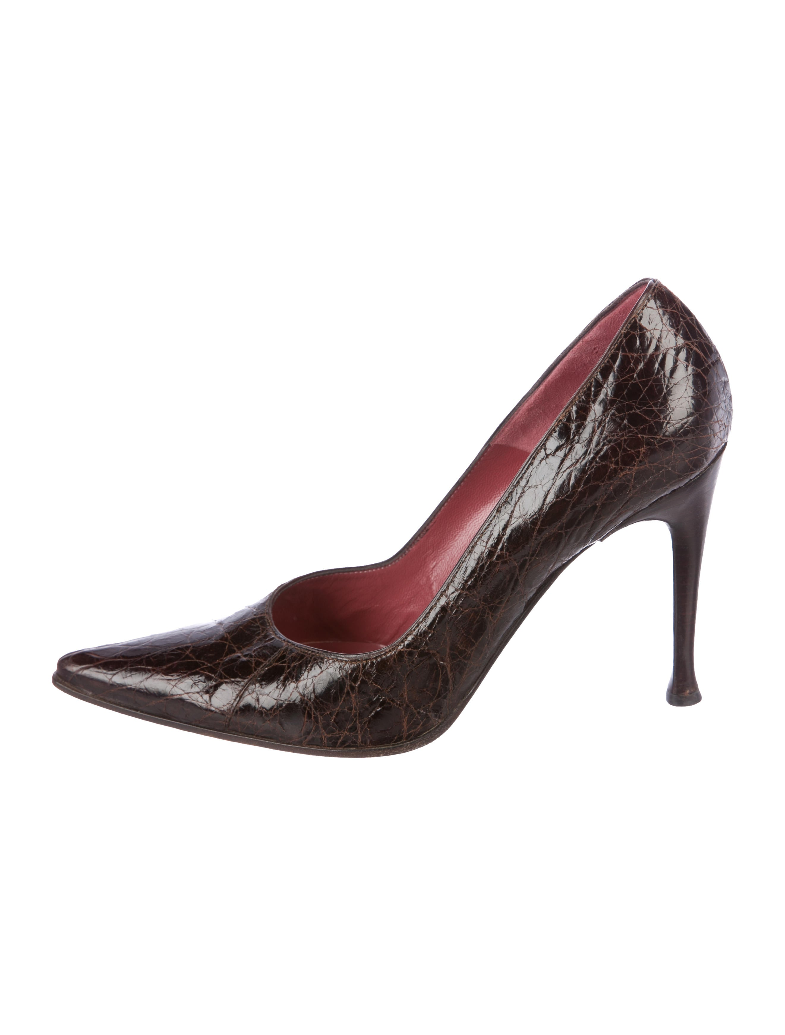 Sergio Rossi Alligator Pointed-Toe Pumps cheap sale exclusive UMpEvPsH