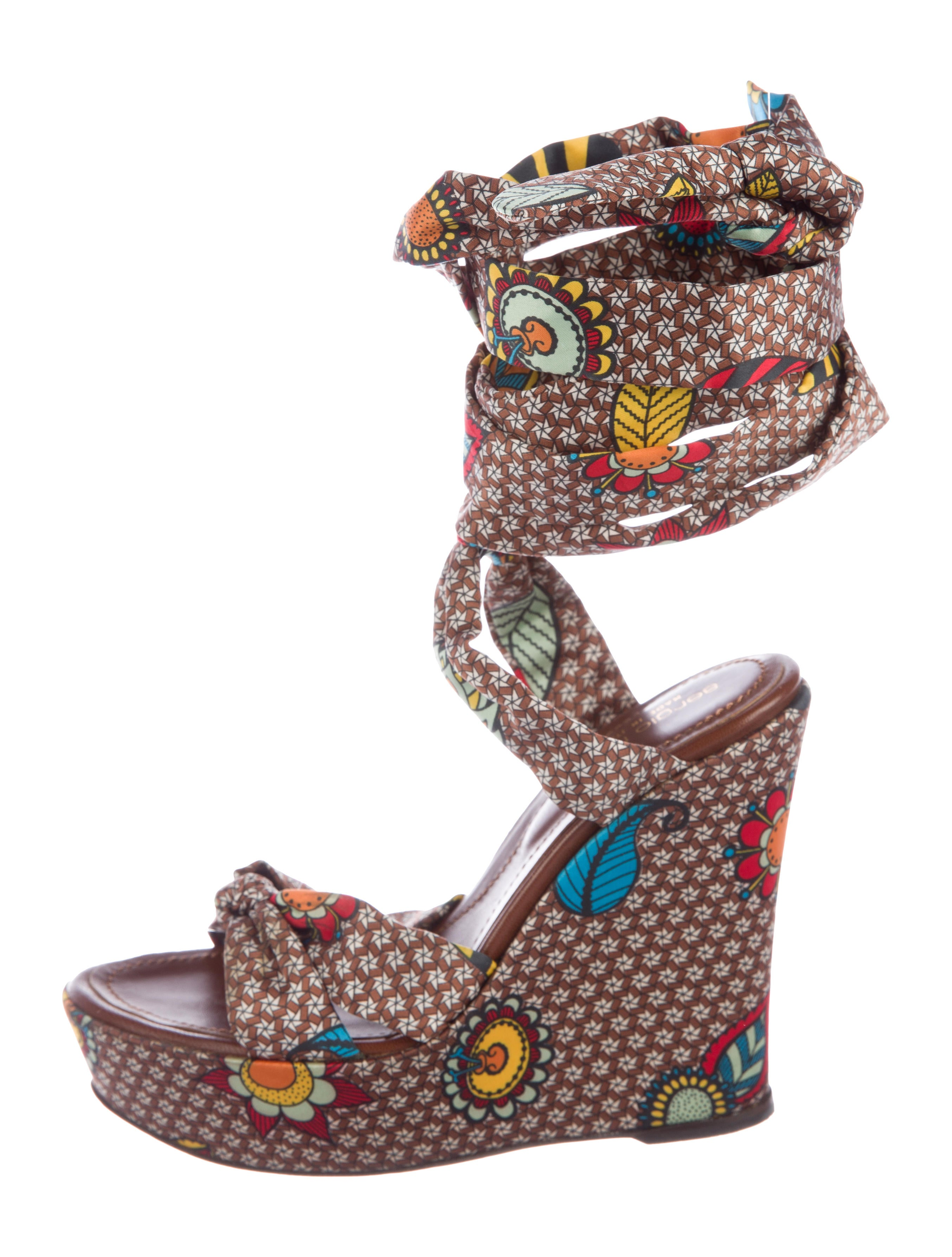 Sergio Rossi Satin Wrap-Around Wedges best sale cheap price discount 2014 footaction for sale vO8mdTOH