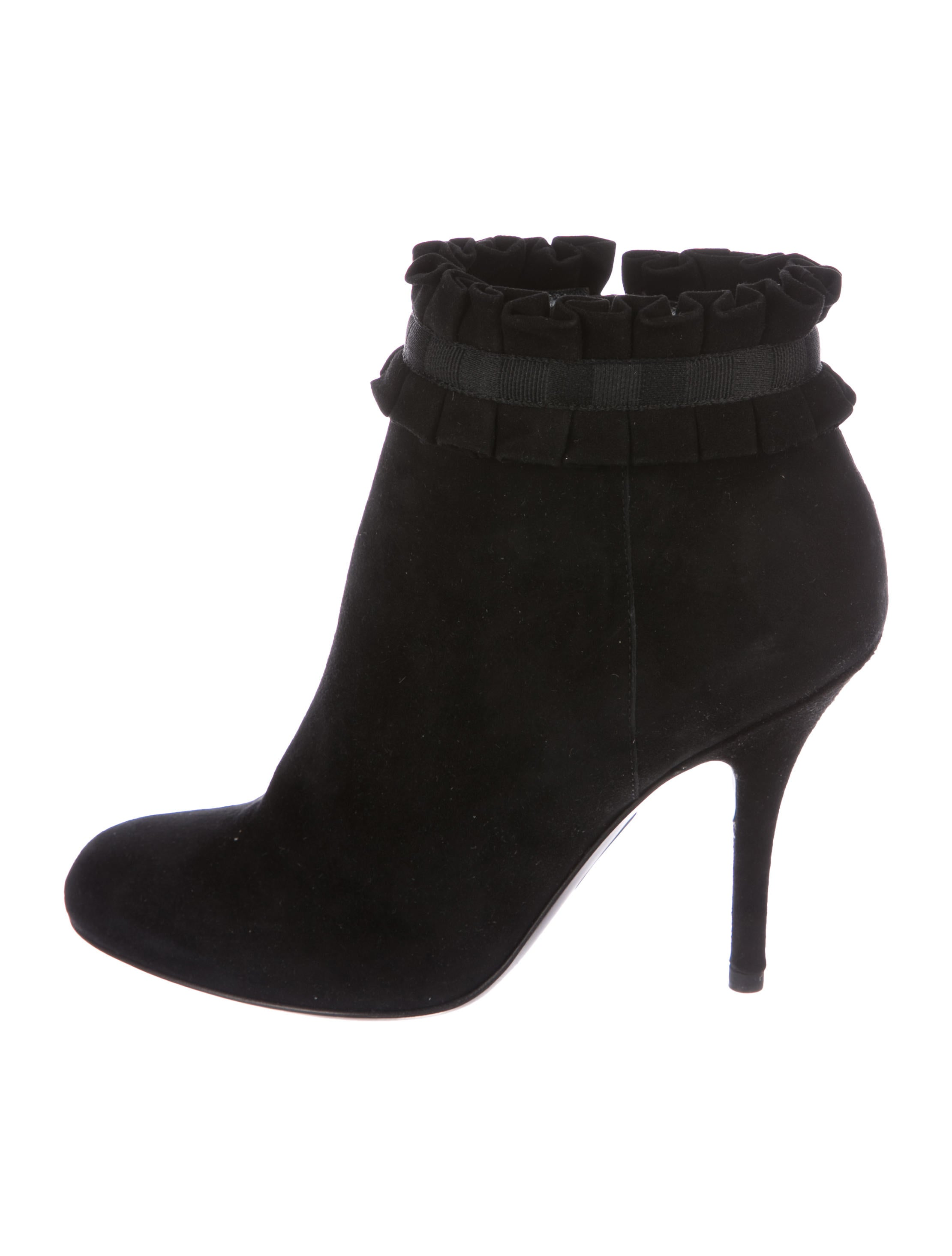 Sergio Rossi Suede Ruffle Booties outlet for cheap buy cheap online AgSfjz8