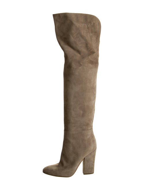 Sergio Rossi Suede Round-Toes Boots