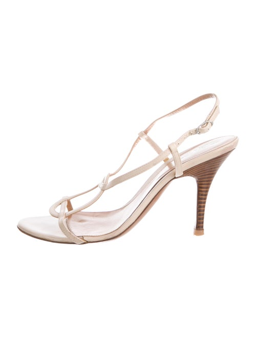 Sergio Rossi Leather Slingback Sandals