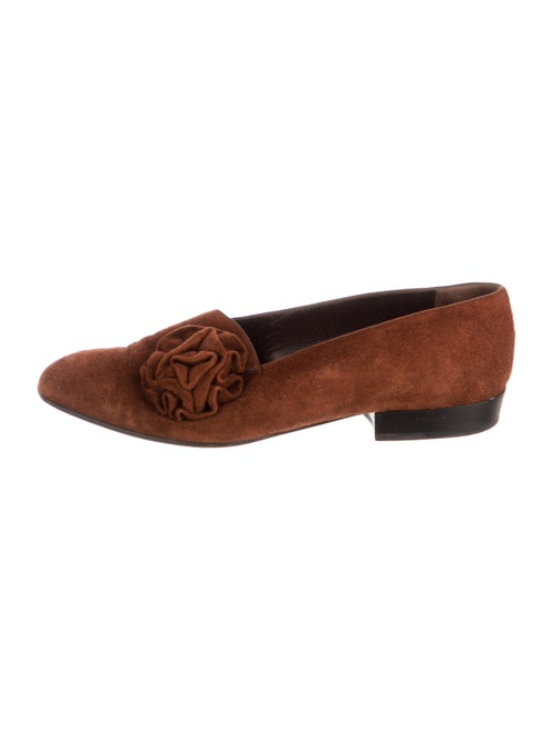 Sergio Rossi Suede Loafers Brown