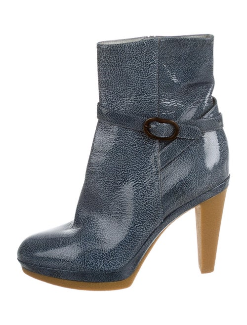 Sergio Rossi Patent Leather Boots Blue