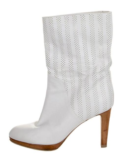 Sergio Rossi Leather Boots White