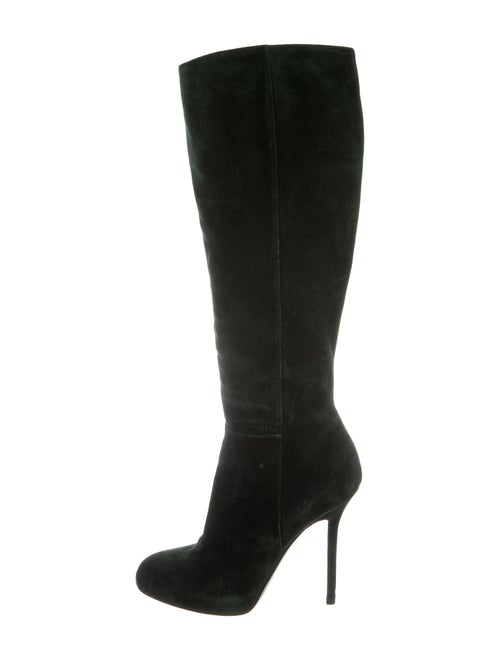 Sergio Rossi Suede Boots Green