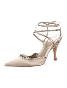 Sergio Rossi Crystal Embellishments Sandals