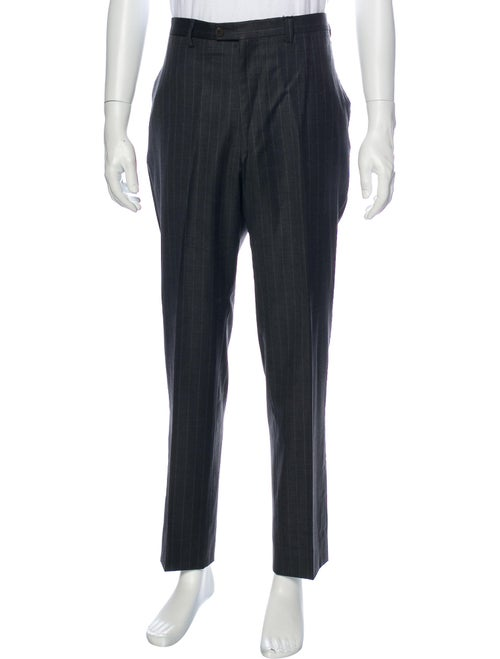 Sartorio Striped Dress Pants Grey