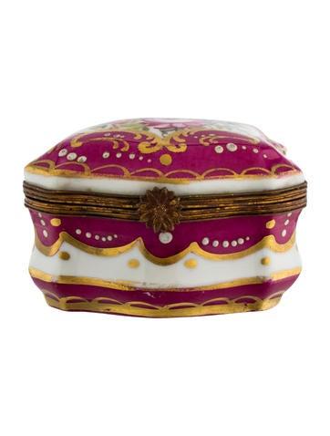 Sèvres Hand-Painted Porcelain Box None