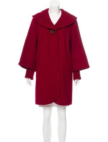 Sofia Cashmere Knee-Length Wool Coat None
