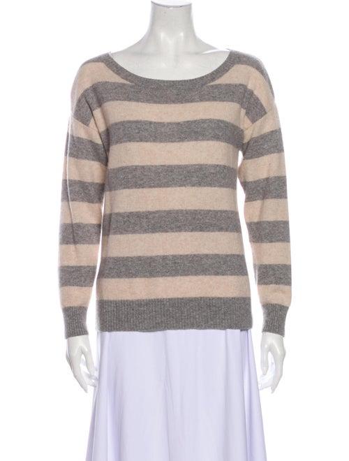 Sofia Cashmere Cashmere Striped Sweater Grey