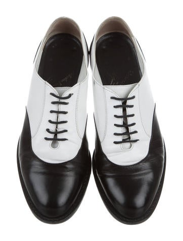 Salvatore Ferragamo x Yohji Yamamoto Leather Round-Toe Oxfords clearance affordable manchester great sale online with paypal cheap big sale discount best place JiwIO
